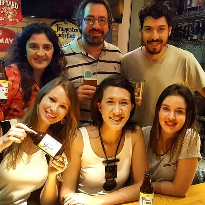 TRIO Blondine (Sibele, Aloísio e Vitor) e TRIO (Amanda, Carol e Bia)
